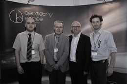 Craig Milnes, Chris Ward and Luke Milnes of Wilson Benesch with Steve Daniels of The Sound Organisation