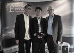 Design Director Craig Milnes with Thomas Gessler of Audionet & Kun Lim of Currants Audio